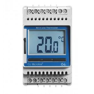 Termosztát - Comfort Heat ETN4-1999 szenzor nélkül, LCD kijelzővel, 16A, szerelősínre