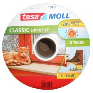 Tesa - Ajtó és ablaktömítő szalag E-profil, barna